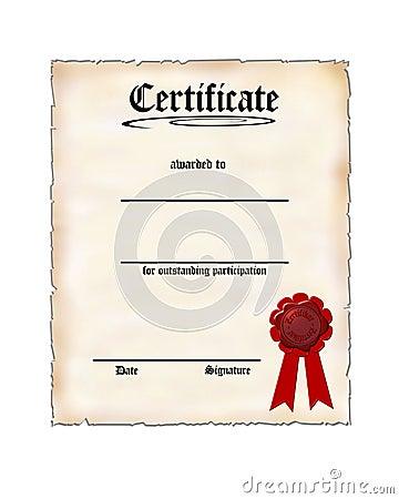 participation award certificate templates .